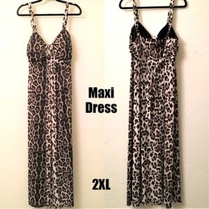 50% OFF❤️2X Maxi Dress Gorgeous Leopard Print